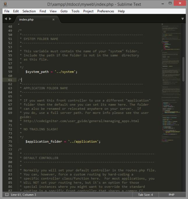 Install CodeIgniter 9